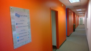 Division colors on walls to support branding strategy